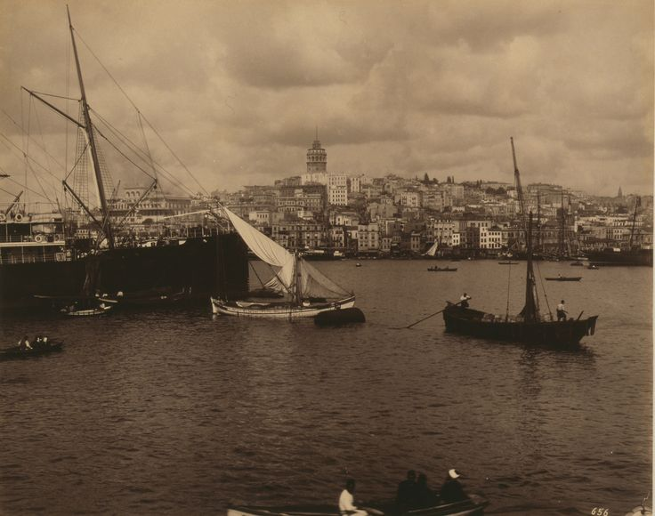 Galata Manzarası Abdullah Fréres fotoğrafı 1880-1893 LOC Arşivi