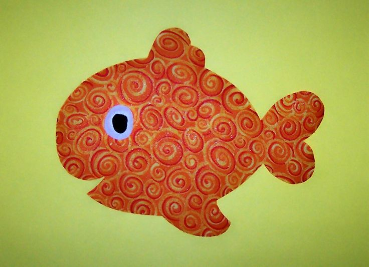 Fabric Applique Template Pattern Only Chubby Fishnew By