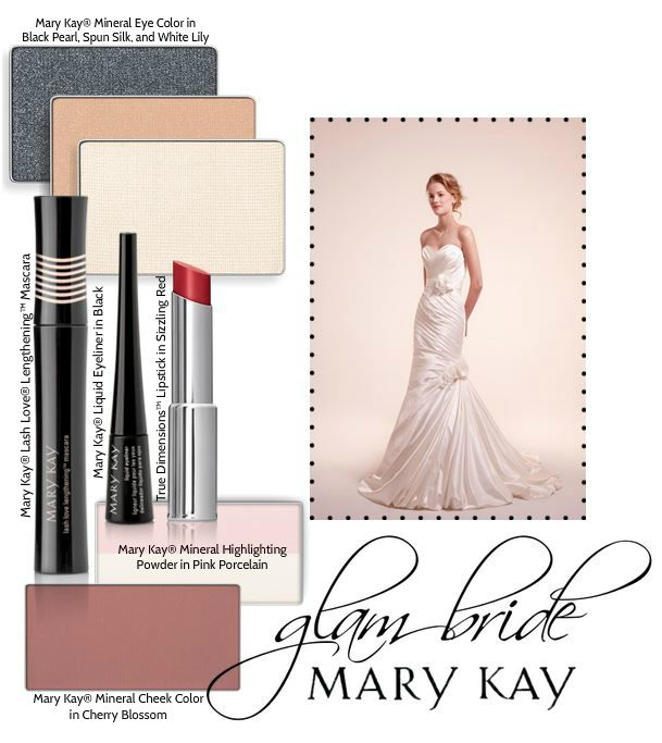 Planning on going all-out glam for your wedding day? Pair a statement red lip with a bold cat eye for a look that's classic yet glamorous.