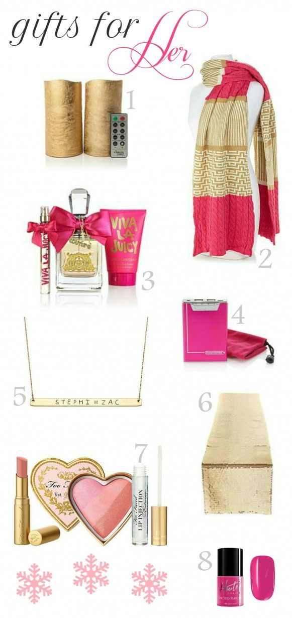 Xmas Ideas For Her Part - 26: Delicious Holiday Gift Ideas For Her.. Juicy Couture, Too Faced, Sequins.
