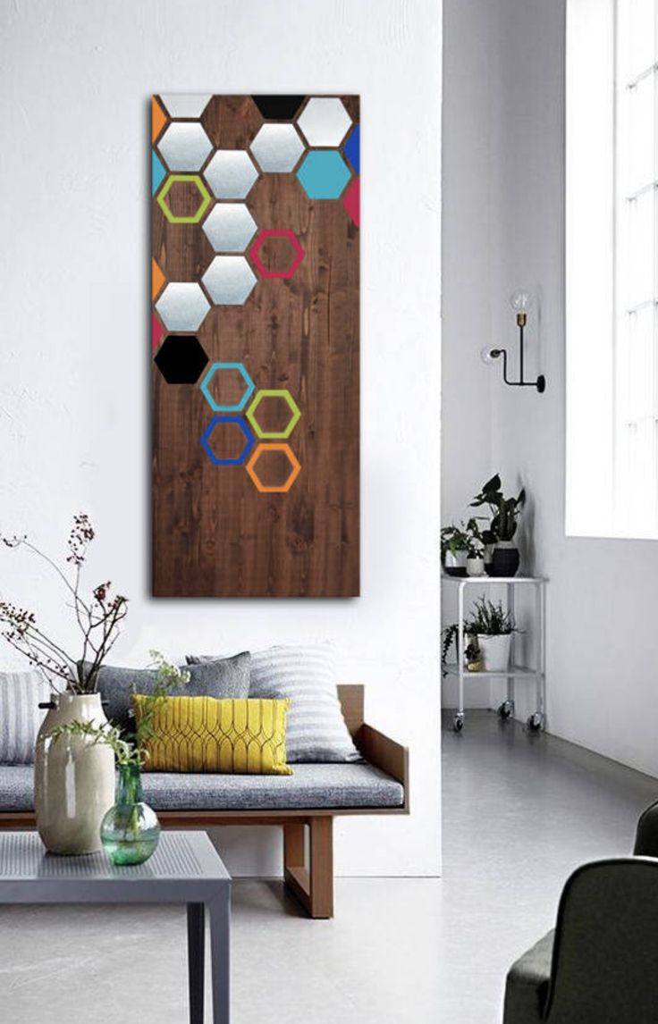 best modern  wood  metal art images on pinterest  wood wall  - mod honeycomb  x  check out my modern wall art made from wood and
