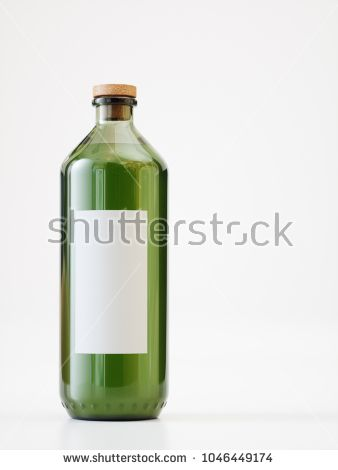 One  Olive Oil Bottle on white background - 3D Rendering