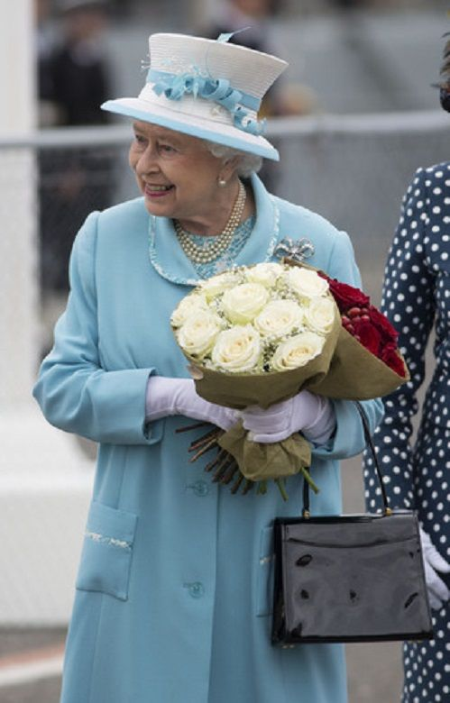 The Queen visiting HMS Lancaster in Portsmouth, United Kingdom, 20th May 2014