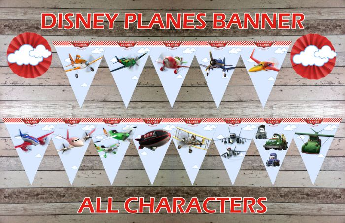 Disney Planes Characters Banner, Flags, Bunting - Printable Digital File