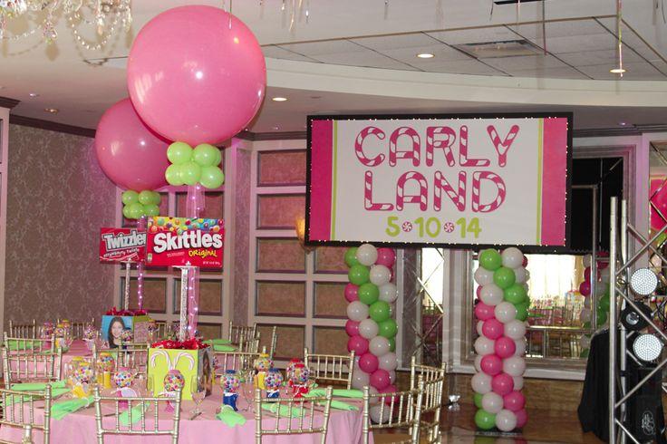 Candy Land Themed Bat Mitzvah Backdrop Bar Mitzvah