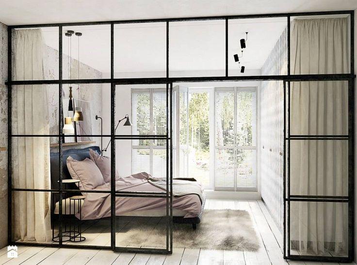 Ścianka działowa sypialni i gabinetu - Sypialnia - zdjęcie od razoo-architekci - Sypialnia - razoo-architekci