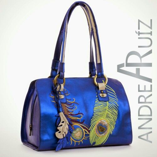 Leather Bag Ultramarine by Andrea Ruíz