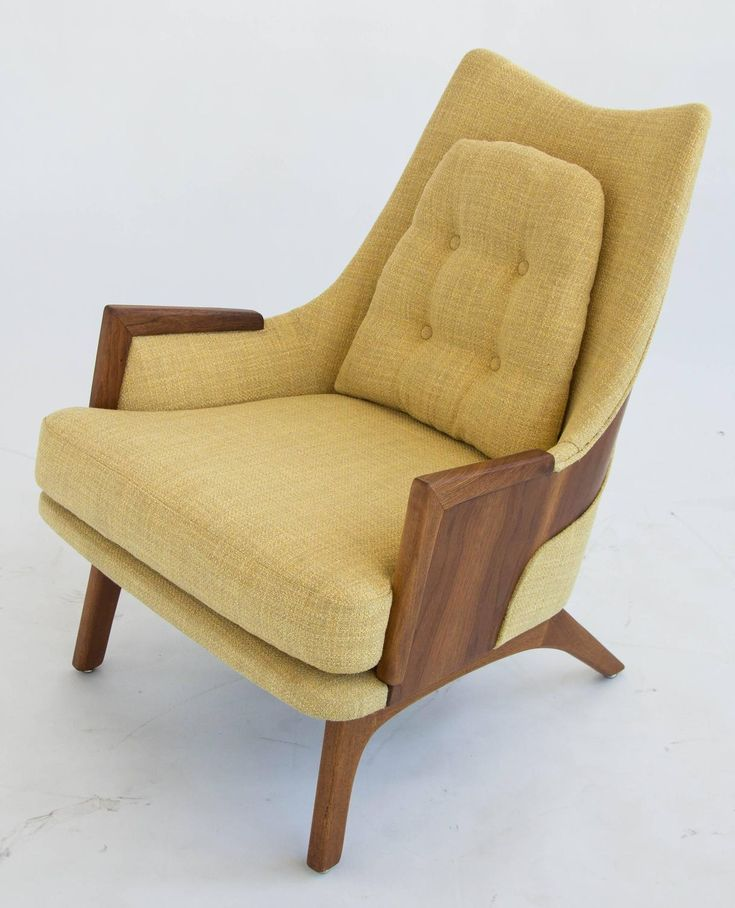 Mid Century Retro Vintage Adrian Pearsall Walnut Arm Lounge Chair Armchair…