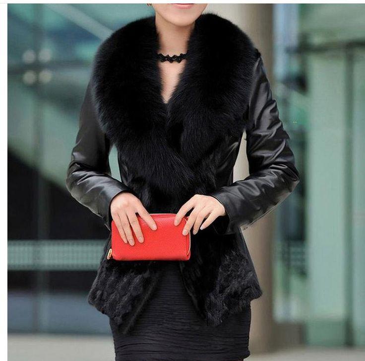 >> Click to Buy << Womens Imitatin Mink Fur Jacket Pu Leather Patchwork Winter Autumn Female Short Faux Fur Coats Large Size Casual Fur Jacket K350 #Affiliate