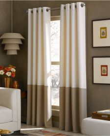 Perfect Kendall Color Block Grommet Curtain Panel Curtainworks  Great For Cheap  Nice Curtains