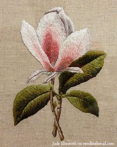 Long & Short Stitch and Needle Painting ~ Magnolia