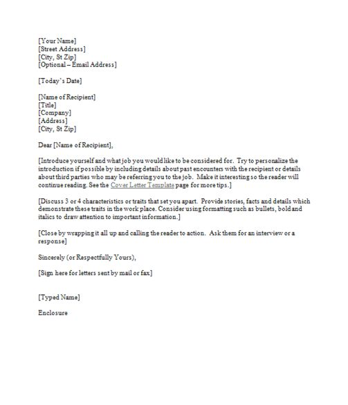 16 best Job Application Templates images on Pinterest Role - formatting a cover letter for a resume