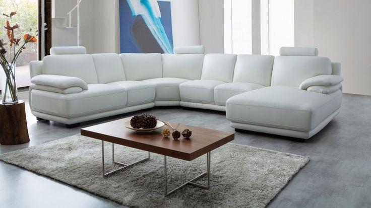 Juliet Leather Modular Lounge Option A - Lounge Life