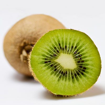 Kiwi    If you've got digestive gripes, then kiwi is your Superfuit. In one study, 41 people who had irritable bowel syndrome (IBS) consumed two kiwis a day for six weeks and reported a reduction of symptoms compared to those who didn't. One theory: Kiwi, especially the skin, is high in fiber and pre-biotic complex carbohydrates.