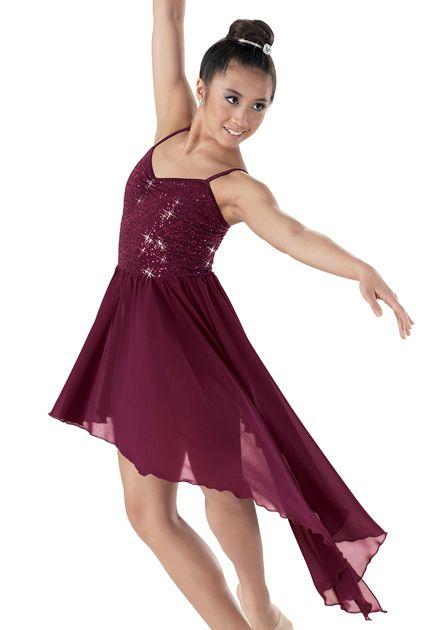 Weissman™   Sequin Asymmetrical Skirt Dress