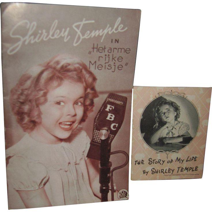 2 Vintage Shirley Temple Booklets Het arme rijke Meisje Poor Rich Girl from madamejezabellesdollsandantiques on Ruby Lane