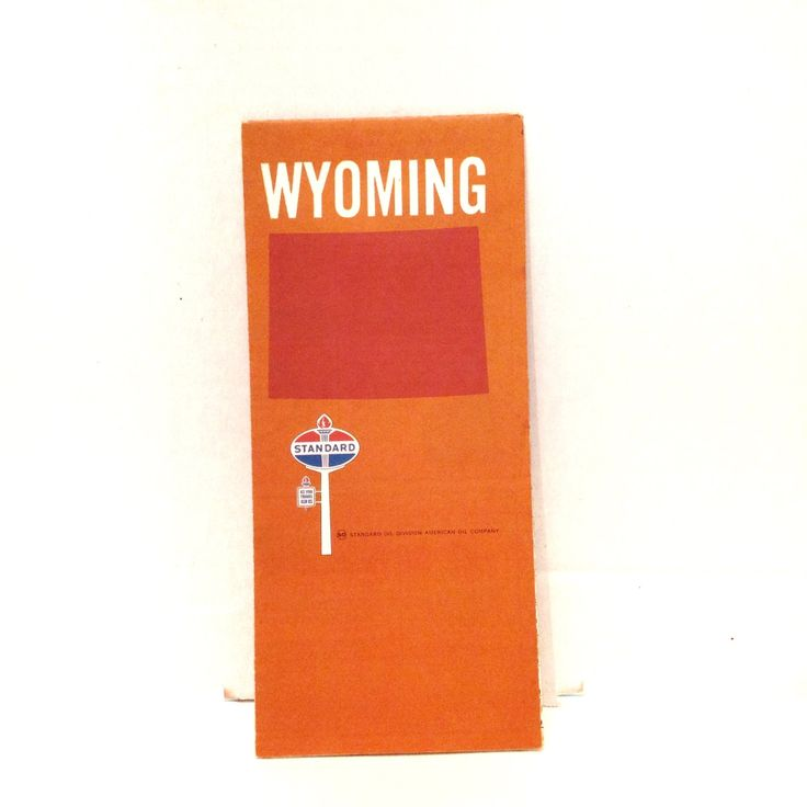 Vintage Wyoming Map 1969 Travel Highway Road Standard Oil Ad by SmileShopCollections on Etsy