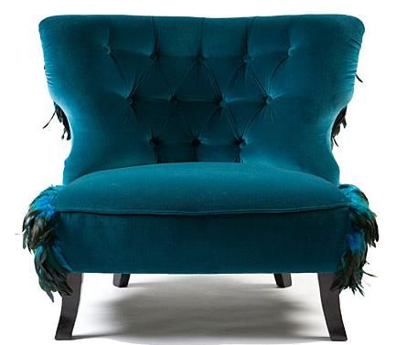 Crushed Turquoise Velvet Chair. Blue is my new favorite color! My next couch will look be blue velvet.. How fun is that!