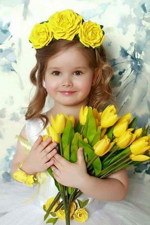 красавица! #дети #цветы