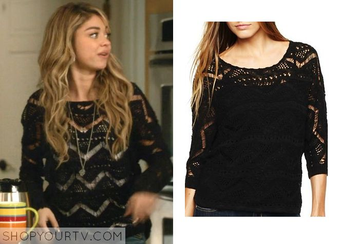 Modern Family: Season 6 Episode 18 Haley's Chevron Striped Knit Sweater