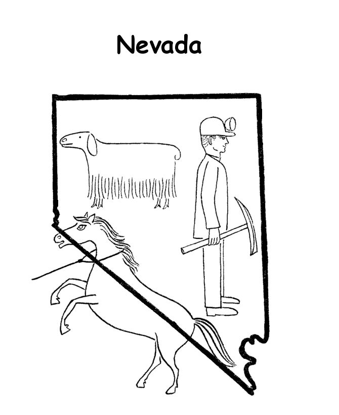 nevada state coloring pages - photo#16