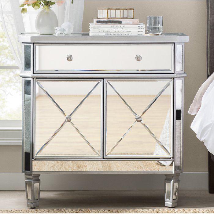 Nicci 1 Drawer 2 Door Accent Cabinet Reviews Joss Main With Images Accent Cabinet Accent Doors Mirrored Furniture