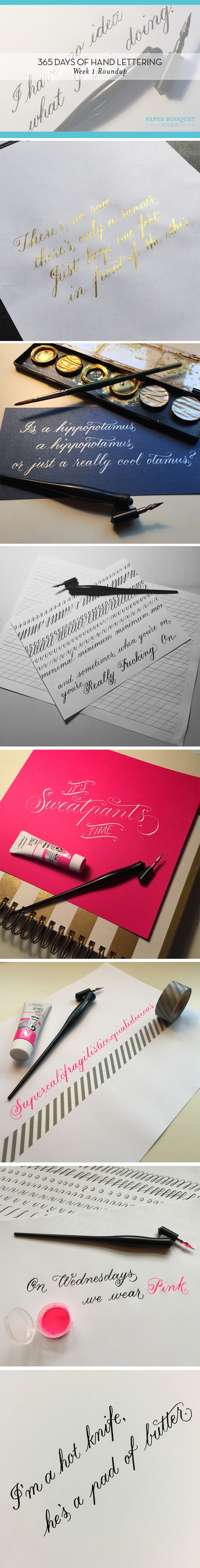 Amazing Samples of Self-Taught Calligraphy Hand Lettering | Paper Bouquet Studio