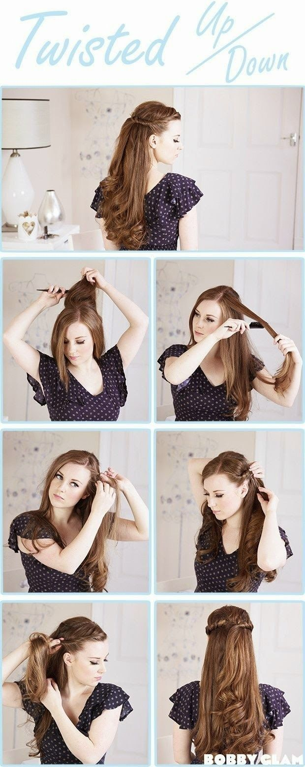 66 best hair arrange long images on Pinterest | Make up looks, Cute ...