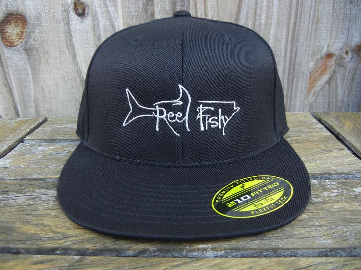 61 best tarpon fishing reel fishy logo hats images on for Fishing flat bill hats