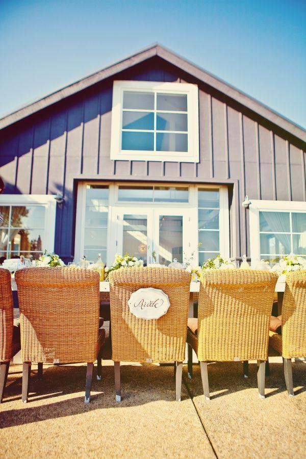outdoor barn bridal shower inspiration // wicker chairs + yellow + white + lemons: Barns Bridal, Shower Ideas, Yellow Weddings, Lemony Yellow, Wedding Showers, Lemon Shower, Bridal Shower, Bride Chairs, Destinations Bridal