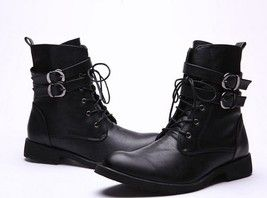 New Handmade Mens MILITARY LEATHER BOOT, MEN COMBAT BOOTS, Men Leather Boot - $189.99