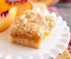 5 Star Peach Crumb Bars   RecipeLion.com