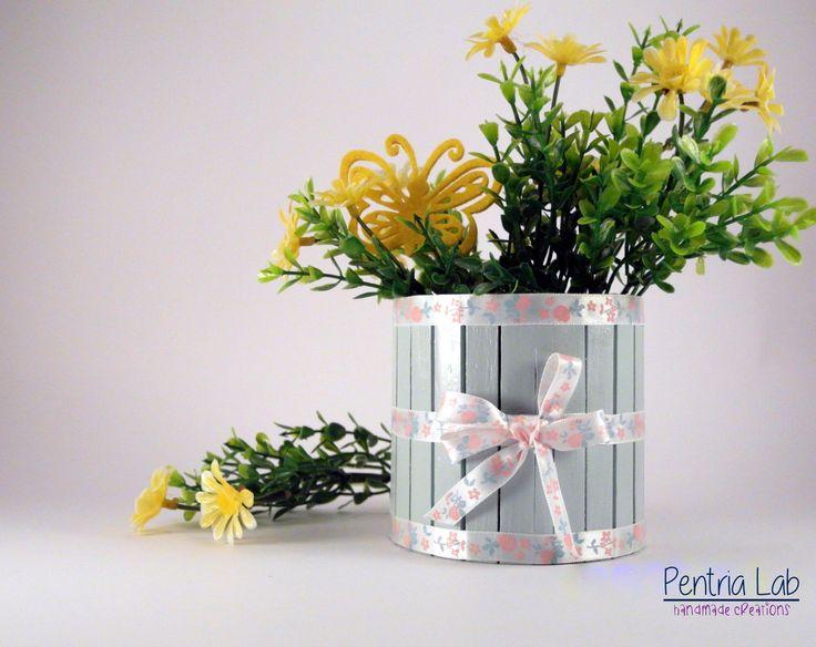 porta cero o lumino, copri-vaso romantico riciclo creativo : Accessori casa di pentria-lab