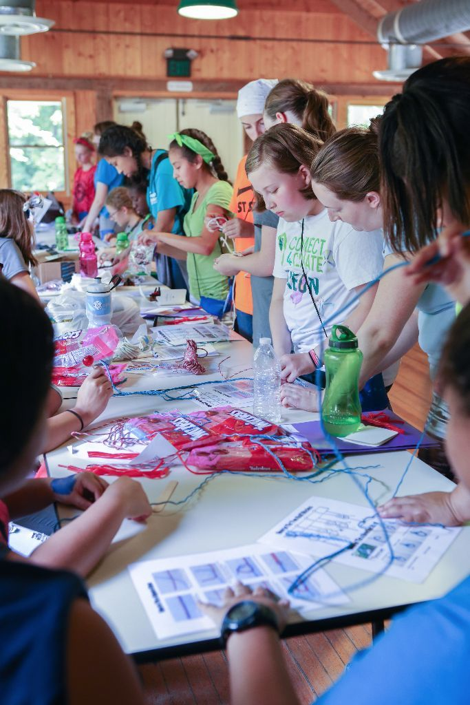 Knot tying with licorice and tons of other fun girls camp certification ideas