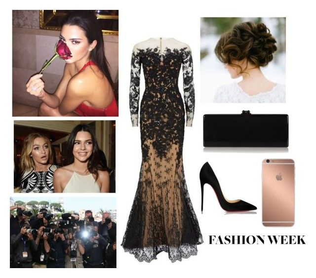 """Arab Fashion Week is here! Princess Amirah hosts the Arab Fashion Week Ball at the Royal Hall of Peace in Gaza (description)"" by jumanaofpalestine ❤ liked on Polyvore featuring Zuhair Murad, Mura, Christian Louboutin, Edie Parker, women's clothing, women, female, woman, misses and juniors"