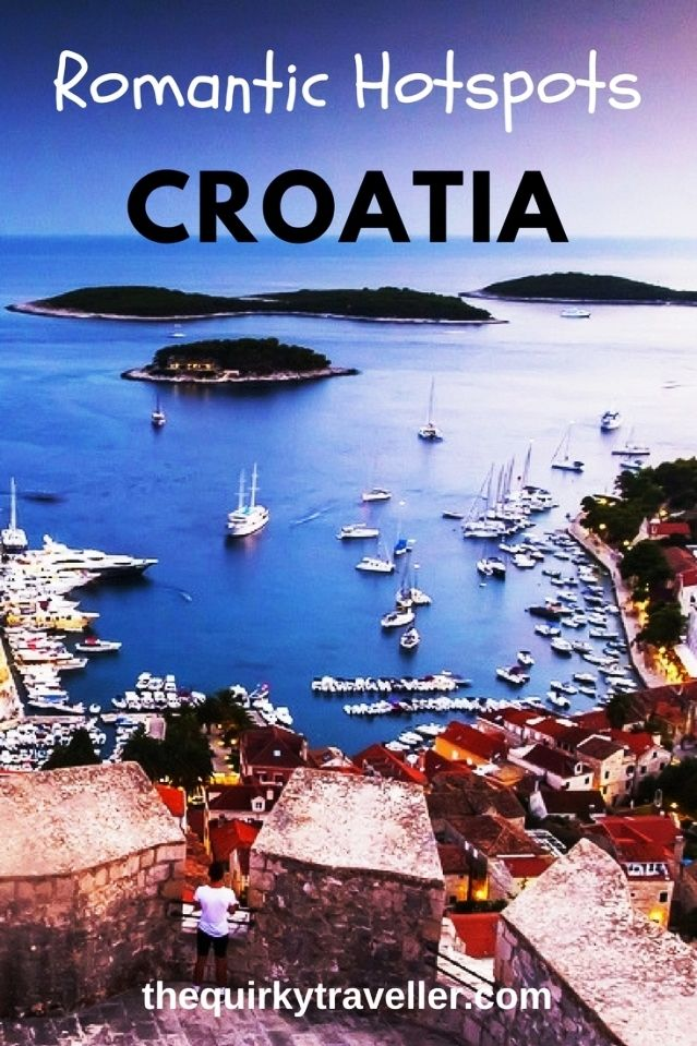 Top tips for a romantic holiday in Croatia including a fairy-tale castle, gorgeous beaches, water sports and a heart-shaped island.