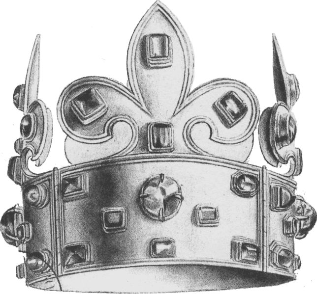 The First Crown of Charlemagne (actually the Crown of Charles the Bald)