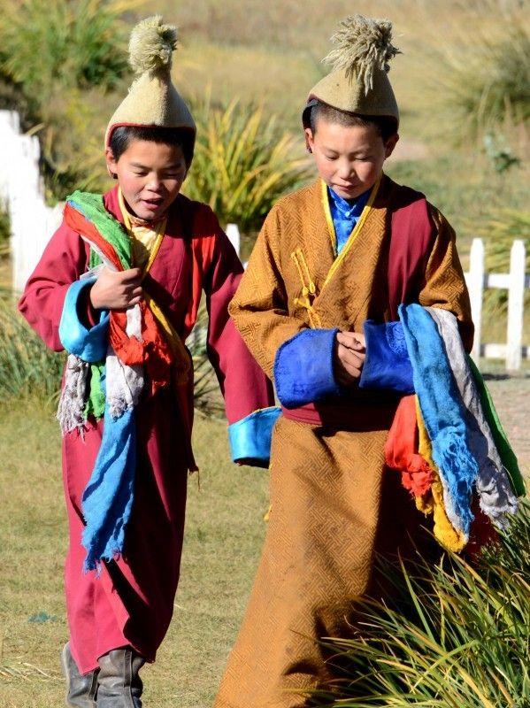 Young monks, region Ulaanbaatar,Mongolia • Kaatje64  #world #cultures
