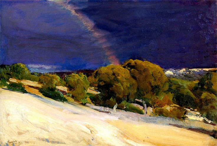 Page: The Rainbow  Artist: Joaquín Sorolla  Completion Date: 1907  Place of Creation: Spain  Style: Impressionism  Genre: landscape  Technique: oil  Material: canvas