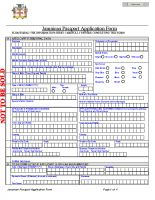 Jamaica Passport Application Form