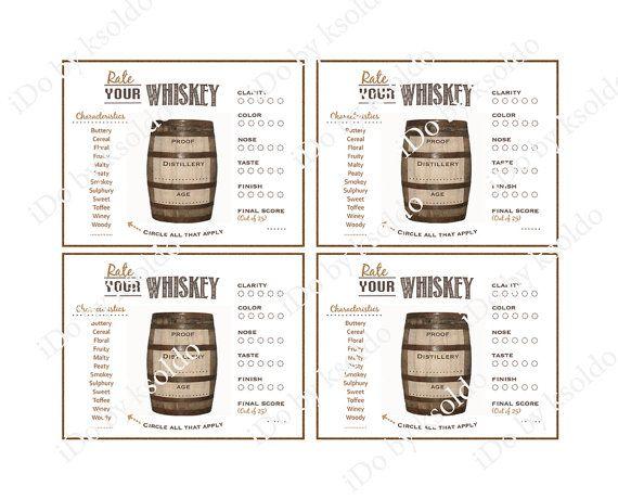 Whiskey Tasting - Whiskey Rating - Whiskey Score Card ...