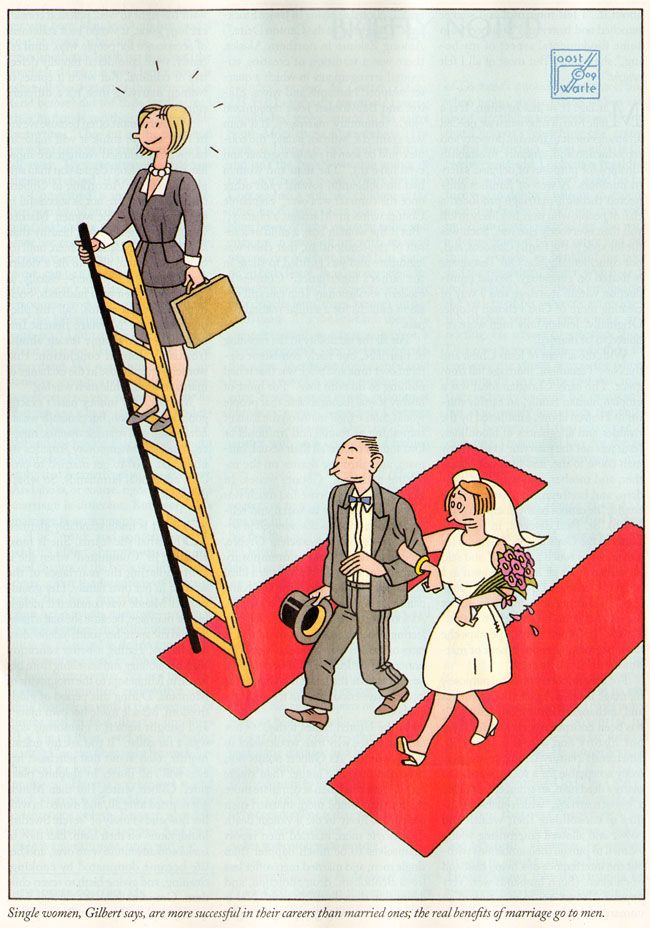 Marriage is not good for the female career, In The New Yorker January 2010 by Joost Swarte