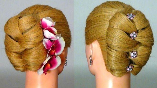 Yılbaşı İçin Örgülü Şık Kabarık Saç Modeli Yapımı - Özel günler için veya günlük evde yapabileceğiniz Yılbaşı için örgülü şık kabarık saç modeli tekniği (Hairstyle For New Year Video)