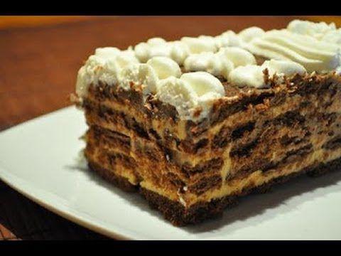 ▶ Tarta de Chocolate con Galletas | Receta casera | Receta facil - YouTube