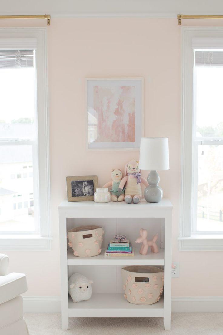 A Blush Pink Nursery For Hannah Chambre Bebe Chambre Bebe Fille