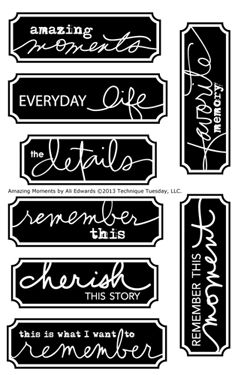 Amazing Moments Stamp Set by Ali EdwardsKaren ……