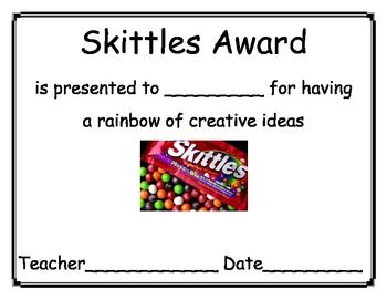 Positive Awards:: Candy Bar Awards for End of Year