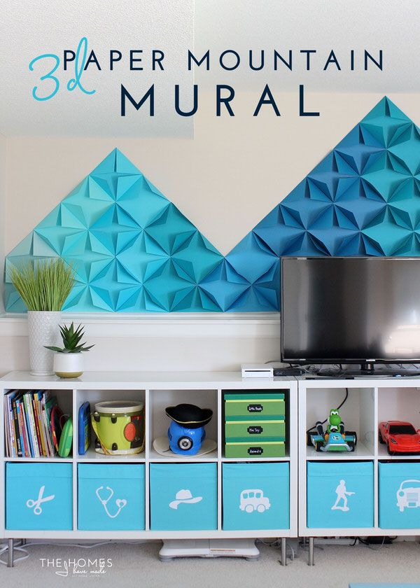 1000 images about wall treatments on pinterest vinyls for Mural 3d simple