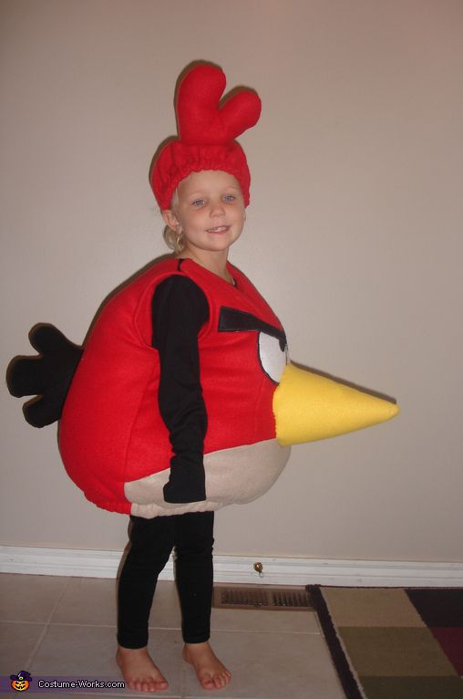 Red Angry Bird costume. Angry Birds - Homemade costumes for kids
