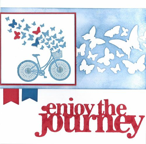 Stamp-it Australia: 4958E Butterfly Bike, Sizzix Butterfly Frenzy and Artful Words - Card by Leah